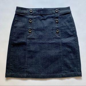 Ann Taylor Loft Above the Knee Denim Skirt